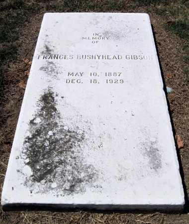 BUSHYHEAD GIBSON, FRANCES TAYLOR - Cherokee County, Oklahoma | FRANCES TAYLOR BUSHYHEAD GIBSON - Oklahoma Gravestone Photos