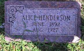 HENDERSON, ALICE - Cherokee County, Oklahoma   ALICE HENDERSON - Oklahoma Gravestone Photos