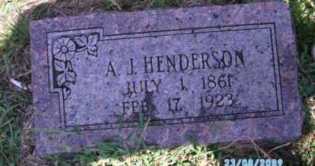 HENDERSON, A. J. - Cherokee County, Oklahoma | A. J. HENDERSON - Oklahoma Gravestone Photos
