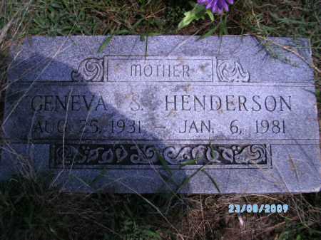 HENDERSON, GENEVA S - Cherokee County, Oklahoma | GENEVA S HENDERSON - Oklahoma Gravestone Photos