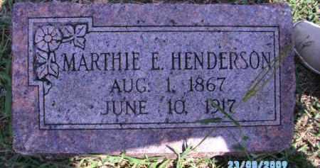 HENDERSON, MARTHIE E - Cherokee County, Oklahoma | MARTHIE E HENDERSON - Oklahoma Gravestone Photos