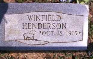 HENDERSON, WINFIELD - Cherokee County, Oklahoma | WINFIELD HENDERSON - Oklahoma Gravestone Photos