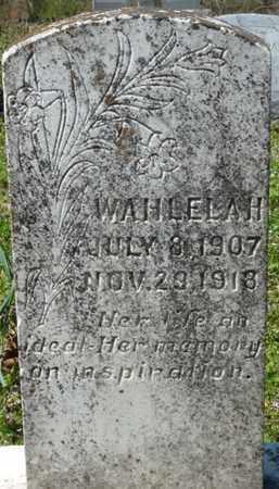 HENDERSON, WAHLELAH - Cherokee County, Oklahoma | WAHLELAH HENDERSON - Oklahoma Gravestone Photos