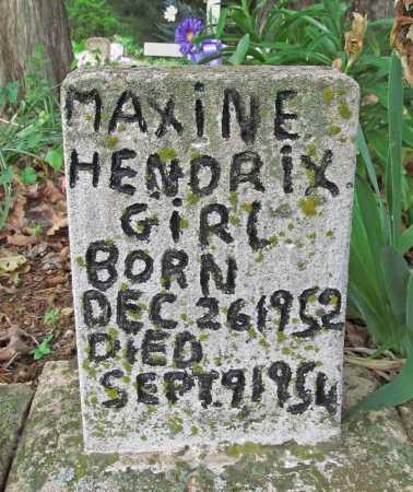 HENDRIX, MAXINE - Cherokee County, Oklahoma | MAXINE HENDRIX - Oklahoma Gravestone Photos