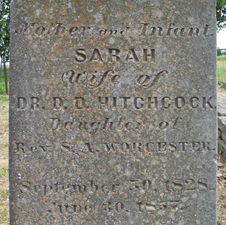 WORCESTER HITCHCOCK, SARAH (CLOSEUP) - Cherokee County, Oklahoma   SARAH (CLOSEUP) WORCESTER HITCHCOCK - Oklahoma Gravestone Photos