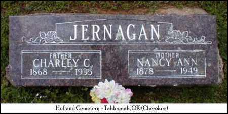 JERNAGAN, CHARLES CLIFFORD - Cherokee County, Oklahoma | CHARLES CLIFFORD JERNAGAN - Oklahoma Gravestone Photos