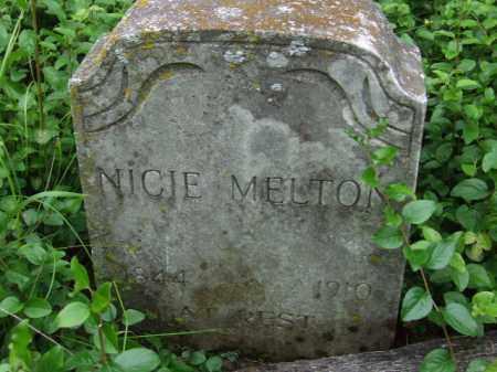 MELTON, NICIE - Cherokee County, Oklahoma   NICIE MELTON - Oklahoma Gravestone Photos