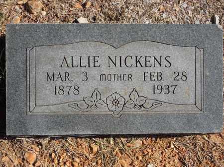 NICKENS, ALLIE - Cherokee County, Oklahoma | ALLIE NICKENS - Oklahoma Gravestone Photos