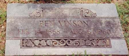 VINSON, BEN - Cherokee County, Oklahoma | BEN VINSON - Oklahoma Gravestone Photos