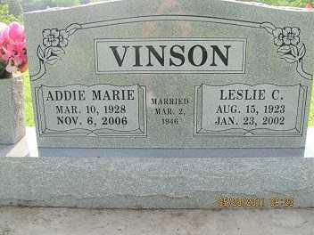 VINSON, ADDIE MARIE - Cherokee County, Oklahoma | ADDIE MARIE VINSON - Oklahoma Gravestone Photos
