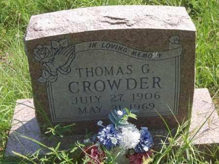 CROWDER, THOMAS G - Choctaw County, Oklahoma   THOMAS G CROWDER - Oklahoma Gravestone Photos