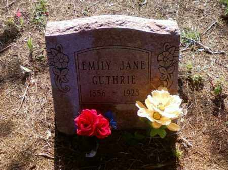 GUTHRIE, EMILY JANE - Choctaw County, Oklahoma   EMILY JANE GUTHRIE - Oklahoma Gravestone Photos