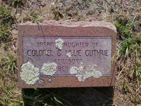 GUTHRIE, INFANT DAUGHTER - Choctaw County, Oklahoma | INFANT DAUGHTER GUTHRIE - Oklahoma Gravestone Photos