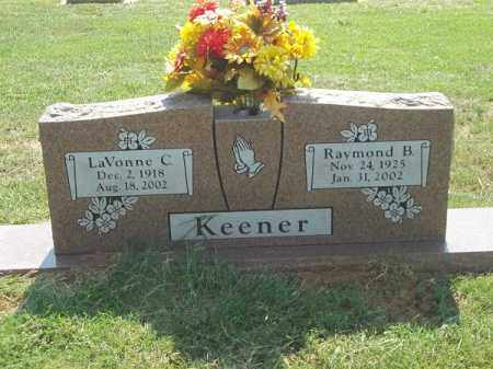 KEENER, LAVONNE C - Choctaw County, Oklahoma   LAVONNE C KEENER - Oklahoma Gravestone Photos