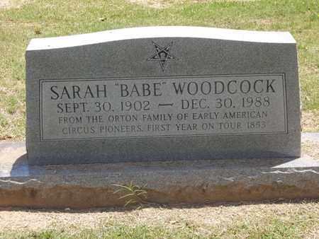 "ORTON WOODCOCK, SARAH ""BABE"" - Choctaw County, Oklahoma   SARAH ""BABE"" ORTON WOODCOCK - Oklahoma Gravestone Photos"