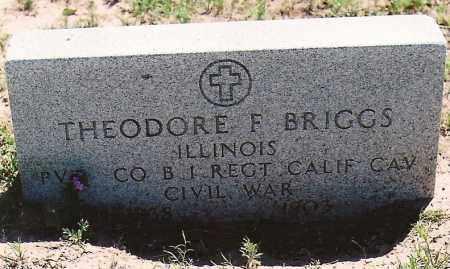 BRIGGS, THEODORE F. - Cimarron County, Oklahoma | THEODORE F. BRIGGS - Oklahoma Gravestone Photos
