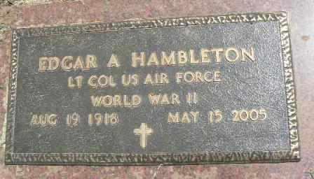 HAMBLETON (VETERAN WWII), EDGAR A - Cleveland County, Oklahoma | EDGAR A HAMBLETON (VETERAN WWII) - Oklahoma Gravestone Photos