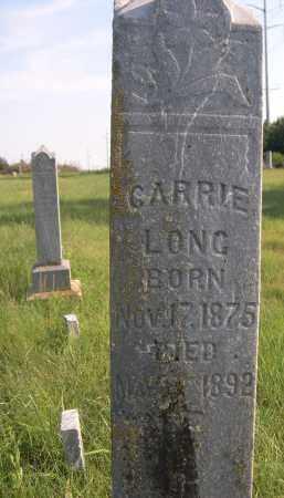 LONG, CARRIE - Cleveland County, Oklahoma | CARRIE LONG - Oklahoma Gravestone Photos