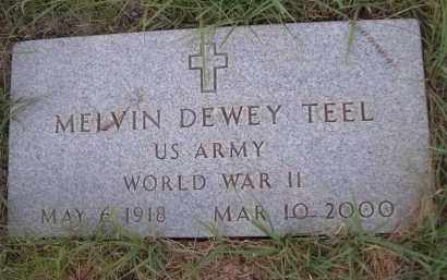 TEEL, MELVIN DEWEY - Cleveland County, Oklahoma | MELVIN DEWEY TEEL - Oklahoma Gravestone Photos