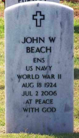BEACH (VETERAN WWII), JOHN W - Comanche County, Oklahoma | JOHN W BEACH (VETERAN WWII) - Oklahoma Gravestone Photos