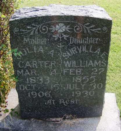 WILLIAMS, SURVILLA A - Comanche County, Oklahoma | SURVILLA A WILLIAMS - Oklahoma Gravestone Photos