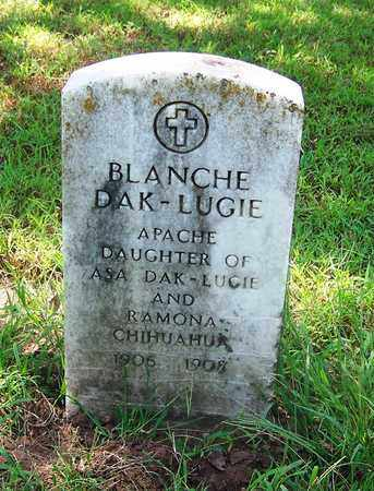 DAK-LUGIE, BLANCHE - Comanche County, Oklahoma   BLANCHE DAK-LUGIE - Oklahoma Gravestone Photos