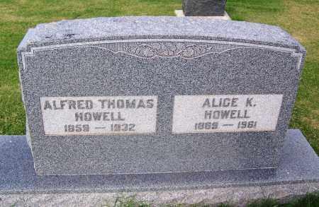 HOWELL, ALFRED THOMAS - Comanche County, Oklahoma | ALFRED THOMAS HOWELL - Oklahoma Gravestone Photos