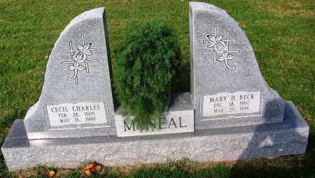 BECK MCNEAL, MARY H - Comanche County, Oklahoma | MARY H BECK MCNEAL - Oklahoma Gravestone Photos