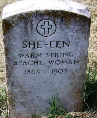 SHE-EEN,  - Comanche County, Oklahoma |  SHE-EEN - Oklahoma Gravestone Photos