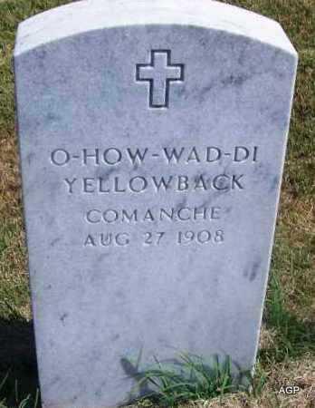 YELLOWBACK, O-HOW-WAD-DI - Comanche County, Oklahoma | O-HOW-WAD-DI YELLOWBACK - Oklahoma Gravestone Photos