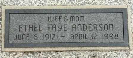 ANDERSON, ETHEL FAYE - Craig County, Oklahoma | ETHEL FAYE ANDERSON - Oklahoma Gravestone Photos
