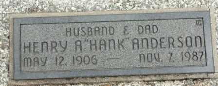 "ANDERSON, HENRY A ""HANK"" - Craig County, Oklahoma | HENRY A ""HANK"" ANDERSON - Oklahoma Gravestone Photos"