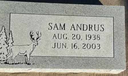 "ANDRUS, HERSCHEL ""SAM"" - Craig County, Oklahoma | HERSCHEL ""SAM"" ANDRUS - Oklahoma Gravestone Photos"