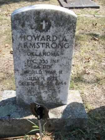 ARMSTRONG (VETERAN WWII), HOWARD A - Craig County, Oklahoma | HOWARD A ARMSTRONG (VETERAN WWII) - Oklahoma Gravestone Photos