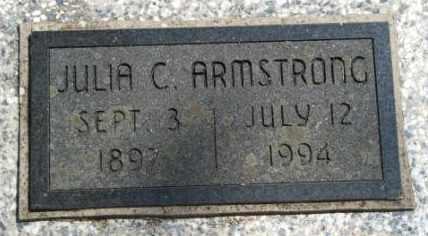 ARMSTRONG, JULIA C - Craig County, Oklahoma | JULIA C ARMSTRONG - Oklahoma Gravestone Photos