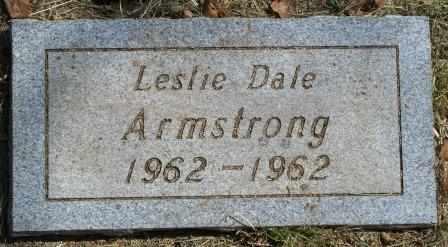 ARMSTRONG, LESLIE DALE - Craig County, Oklahoma | LESLIE DALE ARMSTRONG - Oklahoma Gravestone Photos