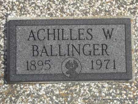 BALLINGER, ACHILLES W - Craig County, Oklahoma | ACHILLES W BALLINGER - Oklahoma Gravestone Photos