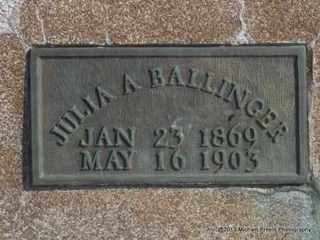 BALLINGER, JULIA - Craig County, Oklahoma   JULIA BALLINGER - Oklahoma Gravestone Photos