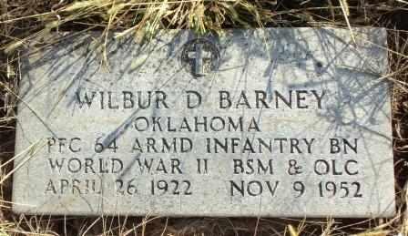 BARNEY (VETERAN WWII), WILBUR DALE - Craig County, Oklahoma | WILBUR DALE BARNEY (VETERAN WWII) - Oklahoma Gravestone Photos