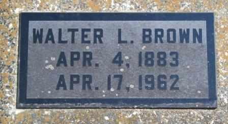 BROWN, WALTER L - Craig County, Oklahoma | WALTER L BROWN - Oklahoma Gravestone Photos