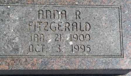 FITZGERALD, ANNA R - Craig County, Oklahoma | ANNA R FITZGERALD - Oklahoma Gravestone Photos