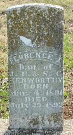 KENWORTHY, FLORENCE A - Craig County, Oklahoma | FLORENCE A KENWORTHY - Oklahoma Gravestone Photos