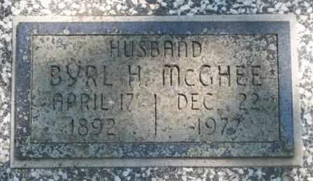 MCGHEE (VETERAN WWI), BYRL HARRY - Craig County, Oklahoma | BYRL HARRY MCGHEE (VETERAN WWI) - Oklahoma Gravestone Photos