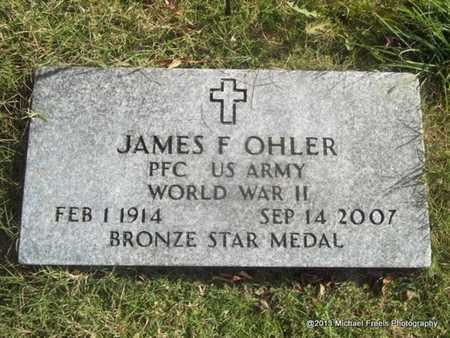 OHLER (VETERAN WWII), JAMES F - Craig County, Oklahoma | JAMES F OHLER (VETERAN WWII) - Oklahoma Gravestone Photos