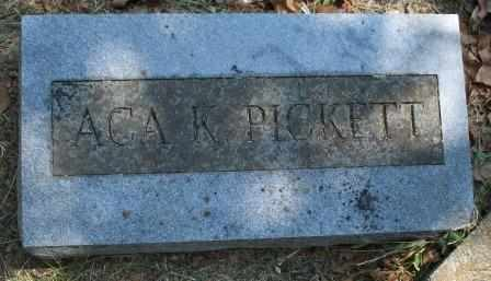 PICKETT, ACA K - Craig County, Oklahoma | ACA K PICKETT - Oklahoma Gravestone Photos