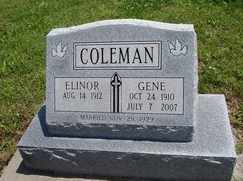 COLEMAN, ELINOR - Creek County, Oklahoma | ELINOR COLEMAN - Oklahoma Gravestone Photos
