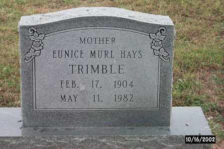 TRIMBLE, EUNICE - Creek County, Oklahoma | EUNICE TRIMBLE - Oklahoma Gravestone Photos