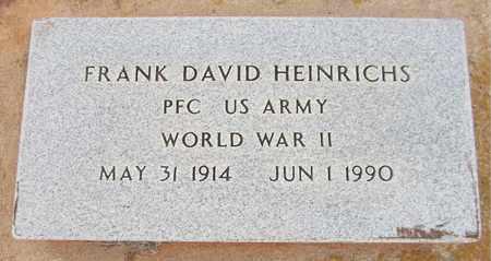HEINRICHS (VETERAN), FRANK DAVID - Custer County, Oklahoma | FRANK DAVID HEINRICHS (VETERAN) - Oklahoma Gravestone Photos