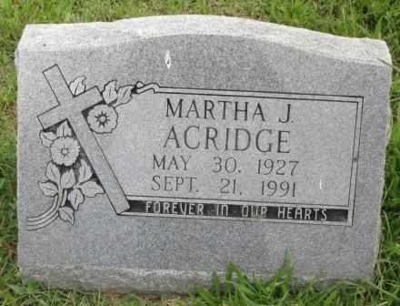 WRIGHT ACRIDGE, MARTHA J - Delaware County, Oklahoma | MARTHA J WRIGHT ACRIDGE - Oklahoma Gravestone Photos