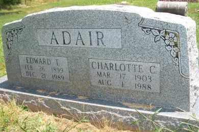 ADAIR, EDWARD T - Delaware County, Oklahoma | EDWARD T ADAIR - Oklahoma Gravestone Photos